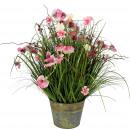 wholesale Artificial Flowers: Meadow grass potted, D55cm, H70cm, pink